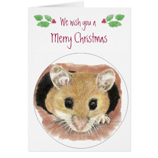 Tarjeta de Navidad linda del ratón