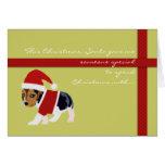 Tarjeta de Navidad linda (perro) - personalizable