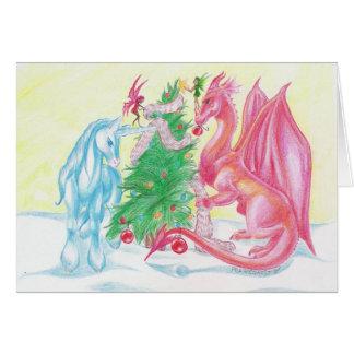 Tarjeta de Navidad mágica