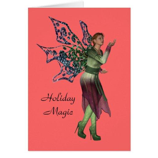 Tarjeta de Navidad mágica del día de fiesta