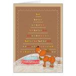 tarjeta de Navidad marrón linda del caniche