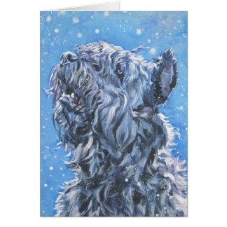 tarjeta de Navidad más bouvier de los flandres del