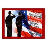 Tarjeta de Navidad militar