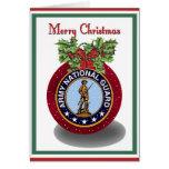 Tarjeta de Navidad militar del Guardia Nacional