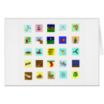 Tarjeta de Navidad minimalista de los iconos