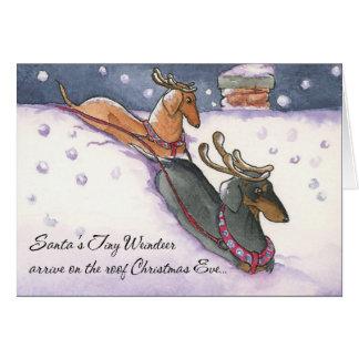 Tarjeta de Navidad minúscula de Weindeer