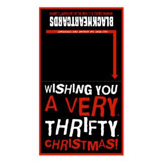 Tarjeta de Navidad minúscula - navidad económico Tarjetas De Visita