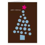 Tarjeta de Navidad moderna - árbol de navidad