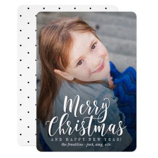 "Tarjeta de Navidad moderna clásica de la tarjeta Invitación 5"" X 7"""