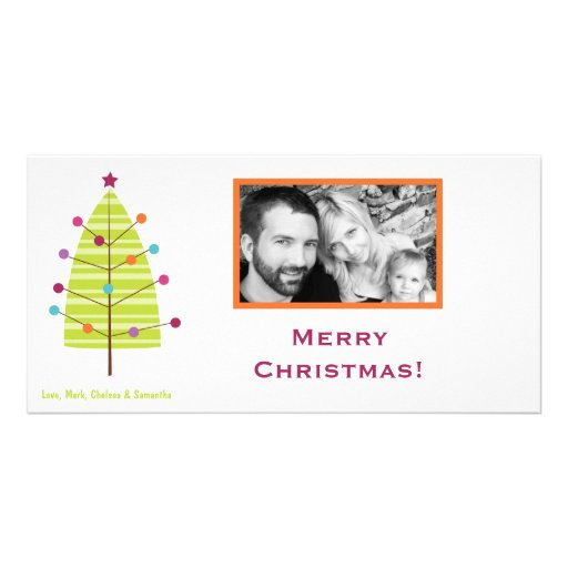 tarjeta de Navidad moderna de la FOTO del árbol de Tarjetas Fotográficas