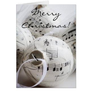 Tarjeta de Navidad musical