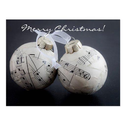 Tarjeta de Navidad musical Tarjeta Postal