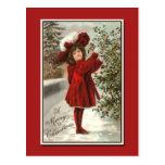 Tarjeta de Navidad muy imponente del vintage Postal