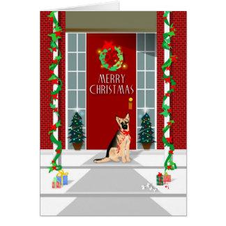 Tarjeta de Navidad - navidad del pastor alemán
