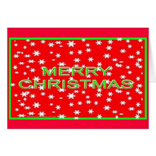 Tarjeta de Navidad Nevado