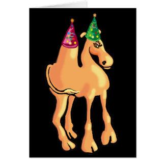 Tarjeta de Navidad o invitación del camello