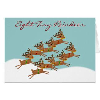 Tarjeta de Navidad ocho minúscula del reno