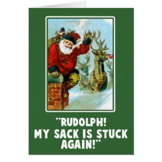 Tarjeta de Navidad ofensiva divertida de la insinu