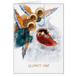 Tarjeta de Navidad ortodoxa rusa con el icono de l