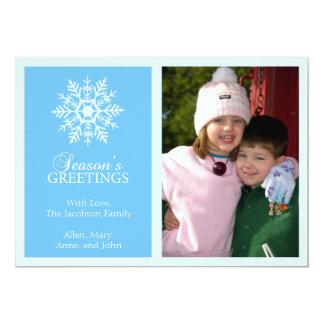 Tarjeta de Navidad pacífica del copo de nieve Invitacion Personalizada