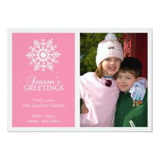 Tarjeta de Navidad pacífica del copo de nieve Comunicados Personalizados