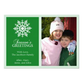 Tarjeta de Navidad pacífica del copo de nieve Invitaciones Personalizada
