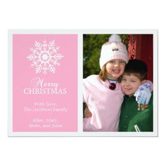 Tarjeta de Navidad pacífica del copo de nieve Invitaciones Personales