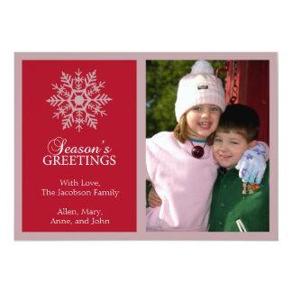 Tarjeta de Navidad pacífica del copo de nieve Invitacion Personal