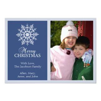 Tarjeta de Navidad pacífica del copo de nieve Comunicado