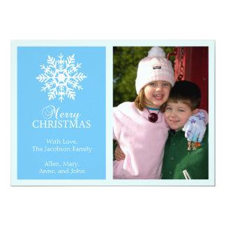 Tarjeta de Navidad pacífica del copo de nieve Invitación