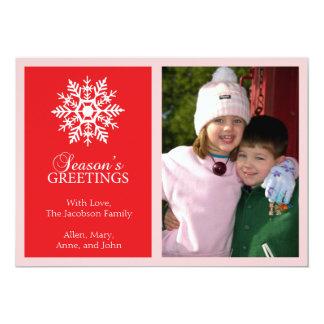 Tarjeta de Navidad pacífica del copo de nieve Comunicados