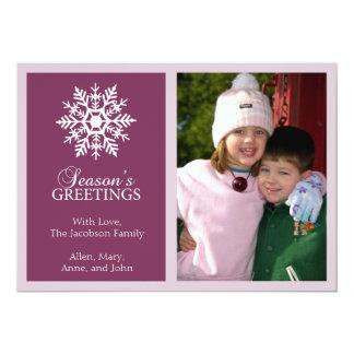 Tarjeta de Navidad pacífica del copo de nieve Anuncio Personalizado