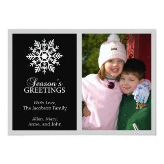 Tarjeta de Navidad pacífica del copo de nieve Comunicados Personales