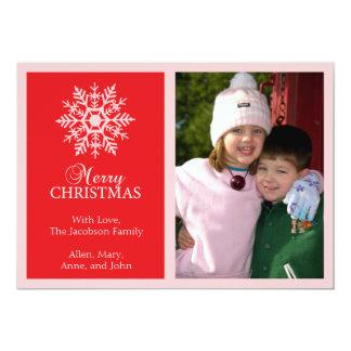 Tarjeta de Navidad pacífica del copo de nieve Anuncios Personalizados