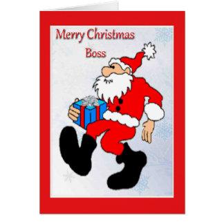 Tarjeta de Navidad para Boss