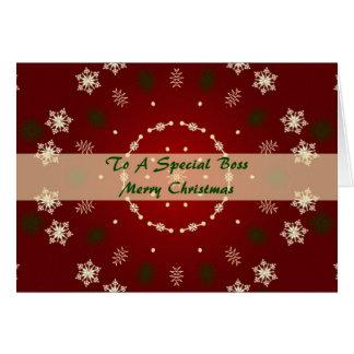 Tarjeta de Navidad para Boss especial