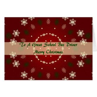 Tarjeta de Navidad para el conductor del autobús e