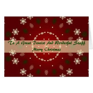 Tarjeta de Navidad para el dentista y el personal
