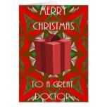 Tarjeta de Navidad para el doctor