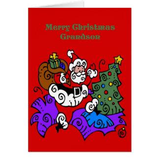 Tarjeta de Navidad para el nieto