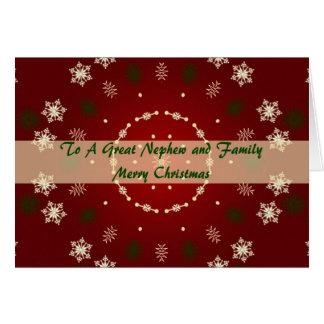 Tarjeta de Navidad para el sobrino y la familia