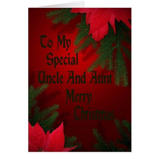 Tarjeta de Navidad para el tío y la tía