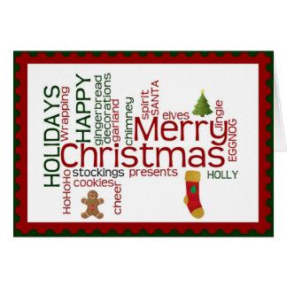 Tarjeta de Navidad para la familia, amigos,