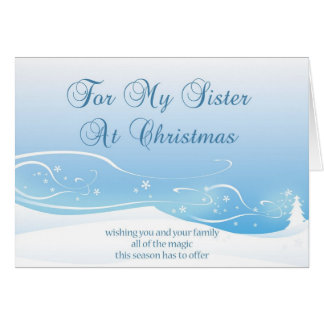 Tarjeta de Navidad para la hermana