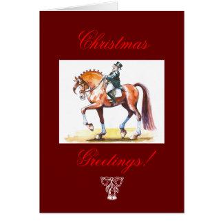 Tarjeta de Navidad para los amantes de los caballo