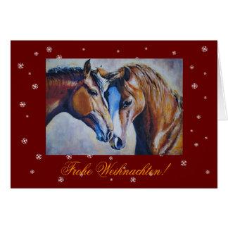 Tarjeta de Navidad para los amantes del caballo