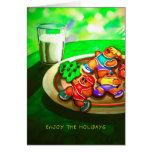 Tarjeta de Navidad para los corredores - pan de je