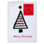 Tarjeta de Navidad para un profesor