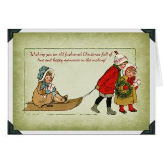 Tarjeta de Navidad pasada de moda