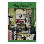 Tarjeta de Navidad pasada de moda del hogar del vi